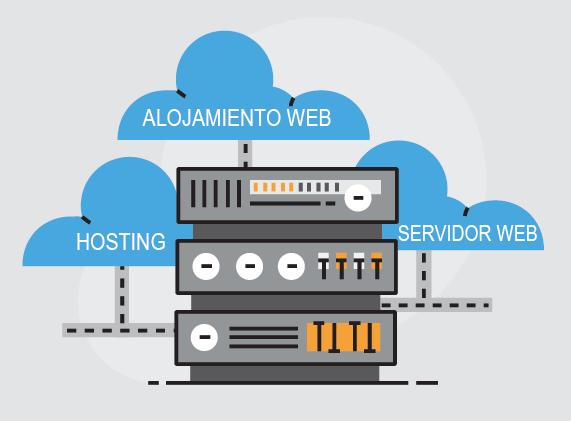ilustración de alojamiento web o hosting
