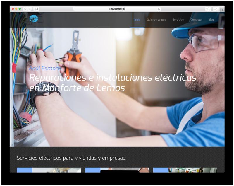 Diseño web de raulesmoris.com